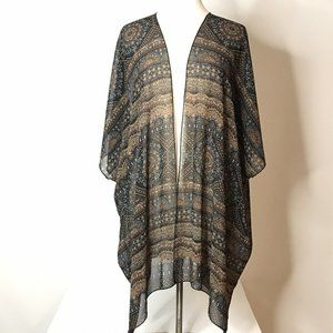 Forever 21 Sheer Kimono Size M Abstract Striped